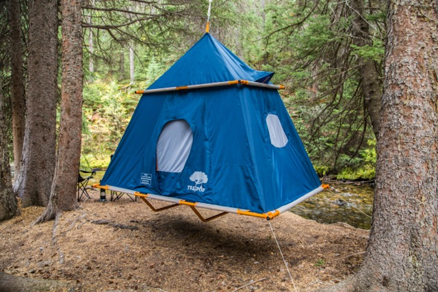 treepod c&er 4 & Hanging Tent Is Adult-Size Tree Fort