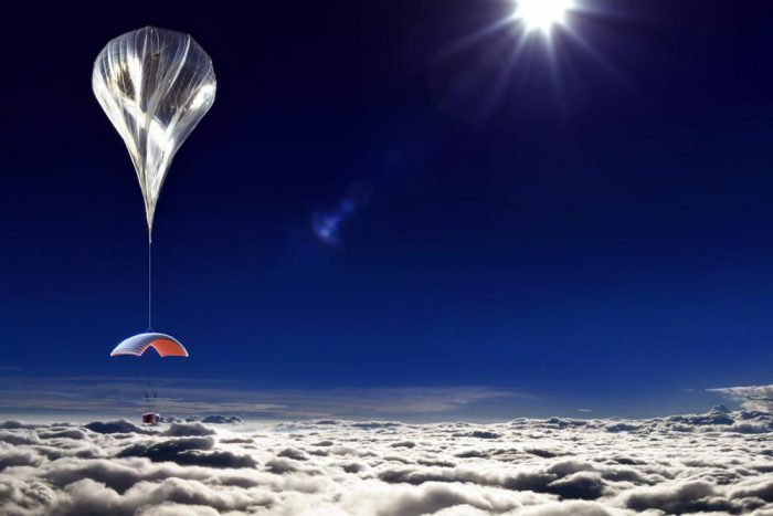 World view space travel flight