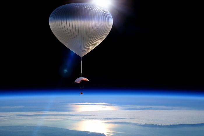 helium balloon to orbit 75,000