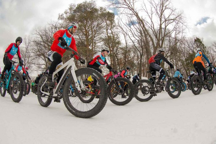 fat bikers in City of Lakes Loppet The great northern