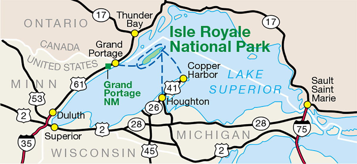 Isle Royale regional map