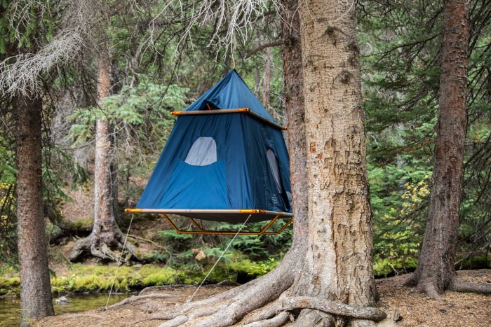 The Treepod C&er hangs from a single point which could simplify setup compared with some suspended structures that need multiple trees. & Hanging Tent Is Adult-Size Tree Fort