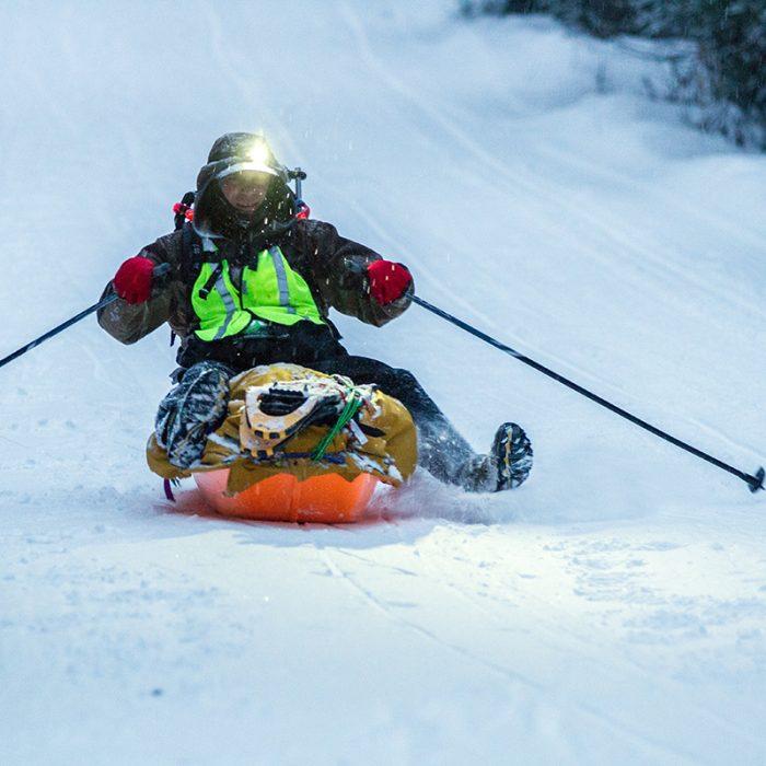 Arrowhead 135 2017 sledding
