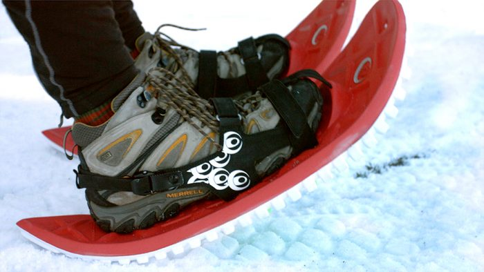 crescent moon eva snowshoes rocking