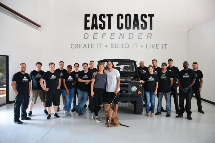 Alex Morgan's Land Rover Defender made by East Coast Defender