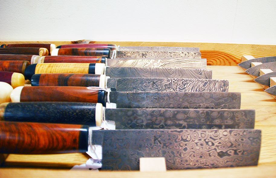 Etched butcher knives