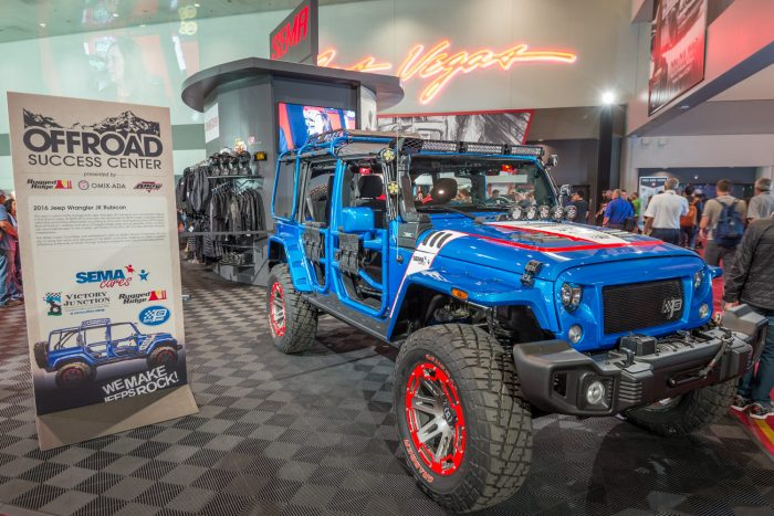 jeep wrangler off-road sema show open-air