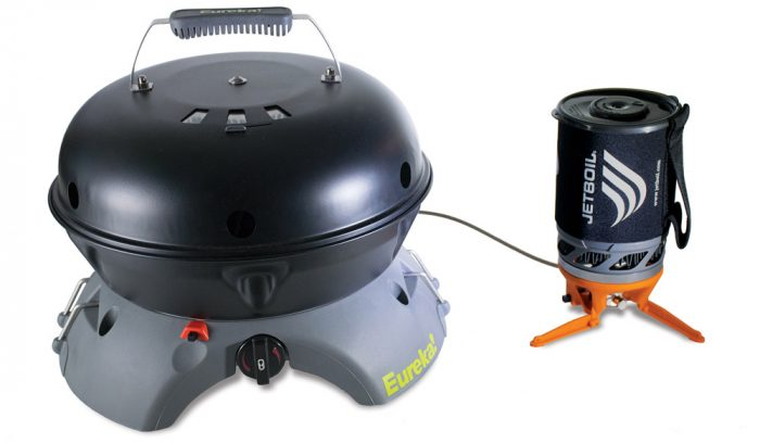 Eureka Gonzo Grill Chained to Jetboil Luna