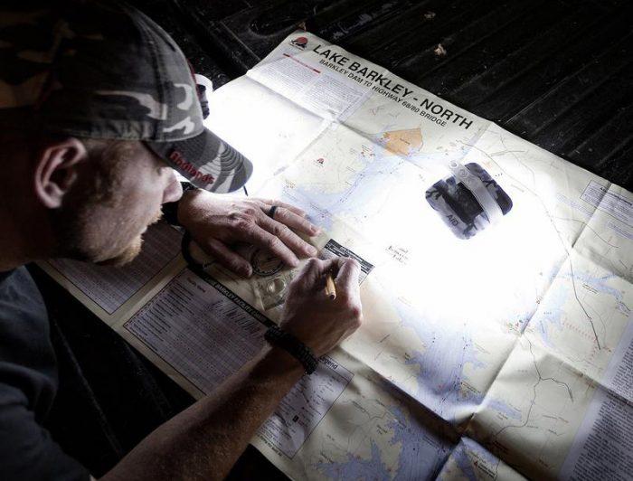 LuminAID CamoLite everest solar inflatable lantern map