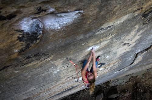Michaela Kiersch First female ascent golden ticket red river gorge kentucky