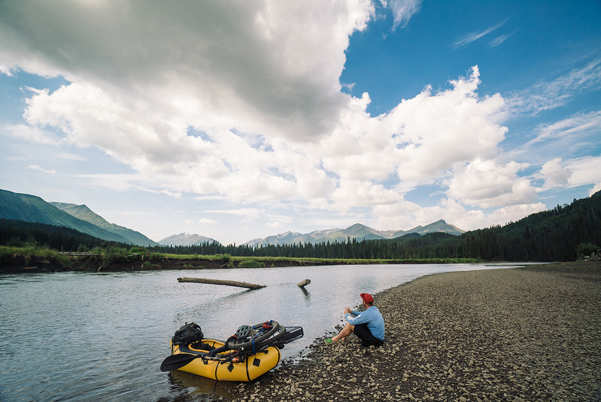Savoring good weather Bikerafting Sacred Headwaters