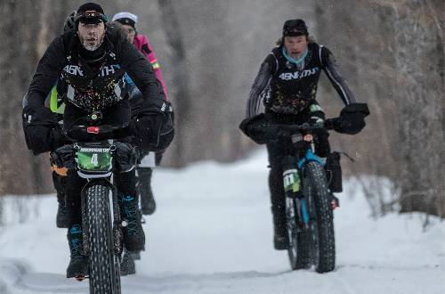 arrowhead 135 fat bike racers