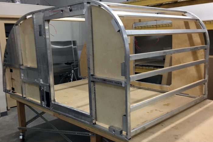 Aluminum frame camper pictures to pin on pinterest pinsdaddy for Aluminum fish house frame