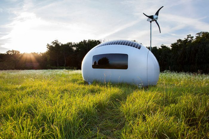 ecocapsule solar wind power tow behind trailer