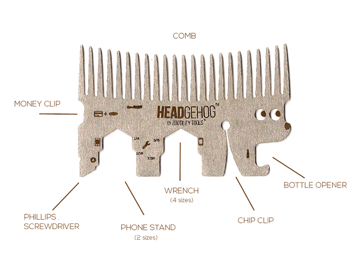 hair comb multitool