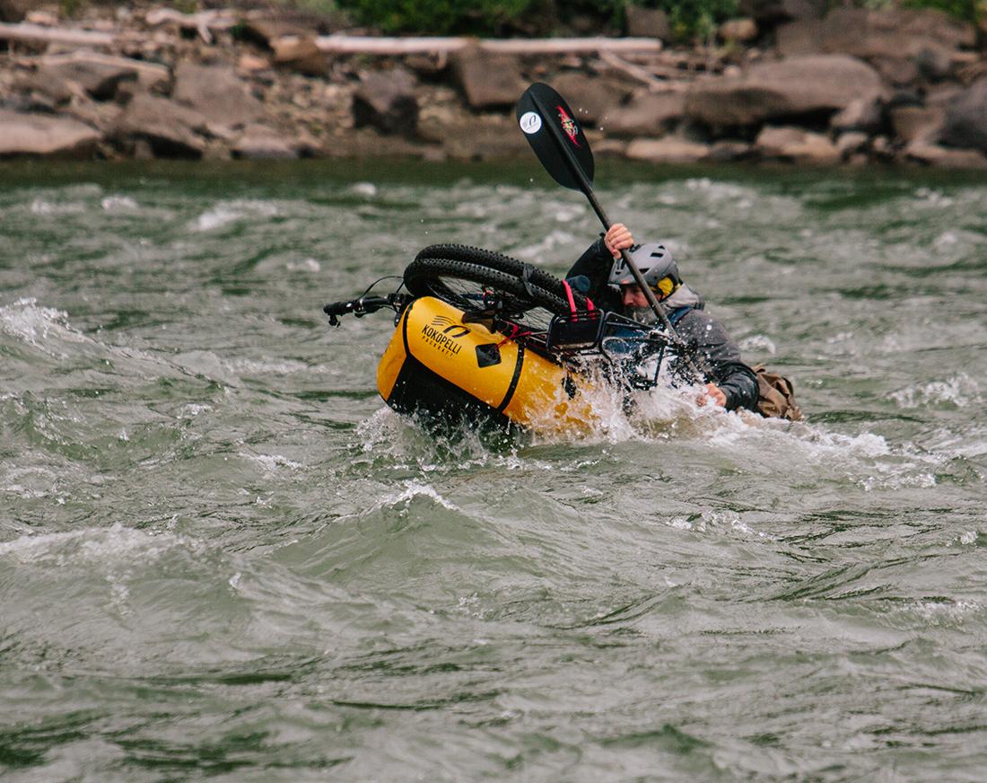 madman paddling Bikerafting Sacred Headwaters