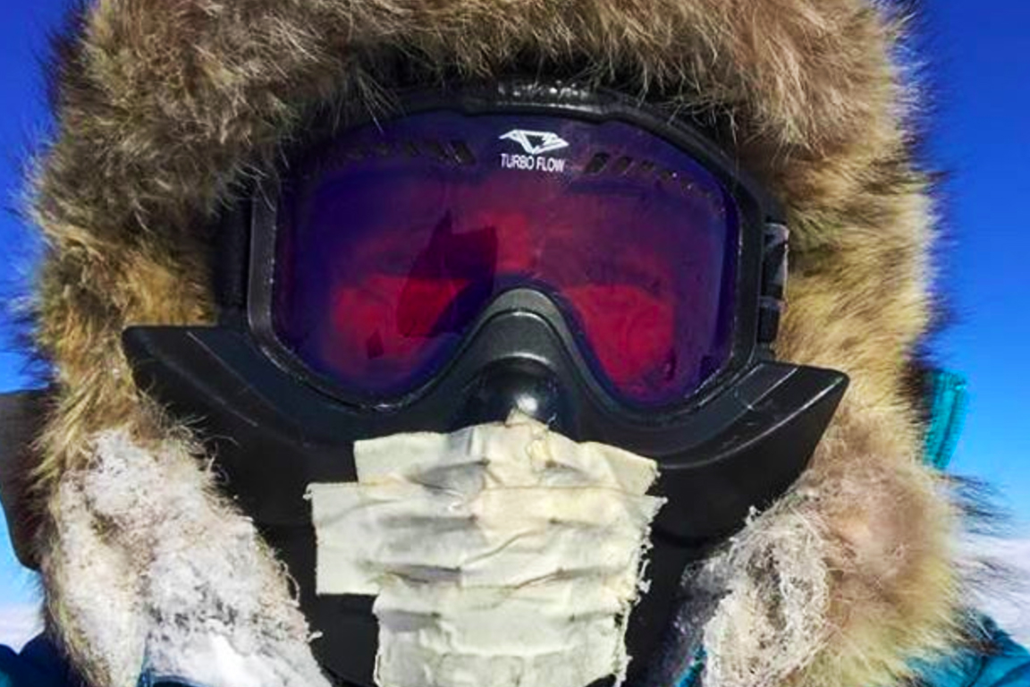mike horn antarctica mask