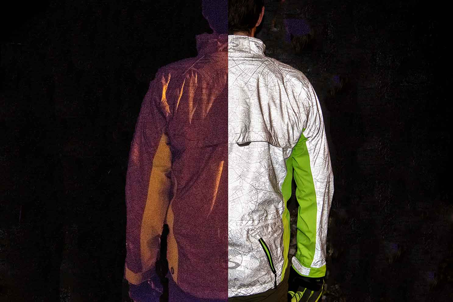 Ultimate Visibility   Torch  Cycling Jacket Shines At Night  489abaada