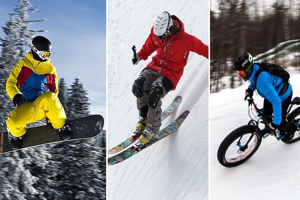 Winner Takes All Skiers Vs Snowboarders Vs Fatbikes