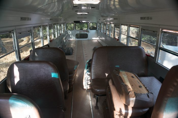 school bus renovation to RV