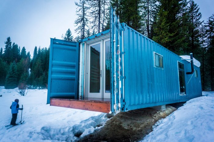 Shipping container cabin Idaho