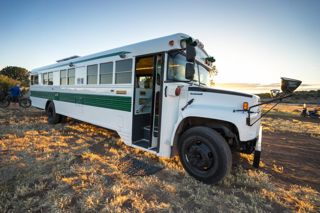 Vanlife Too Cramped Try A School Bus Gearjunkie