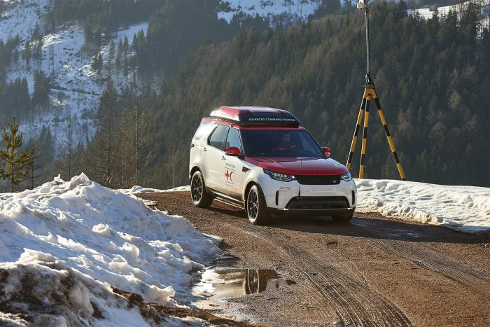 Land Rover Discovery Project Hero Red Cross Search And Rescue Drone