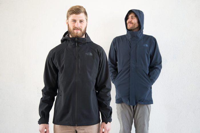 The North Face Apex Flex GTX Rain Jacket (left) and the Apex Flex GTX Disruptor Parka