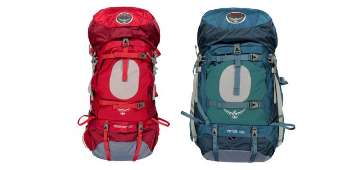 Osprey Aether and Ariel Backpacks