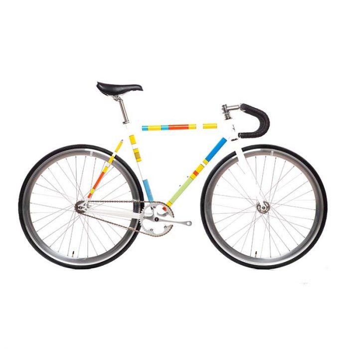 color block simpsons bike