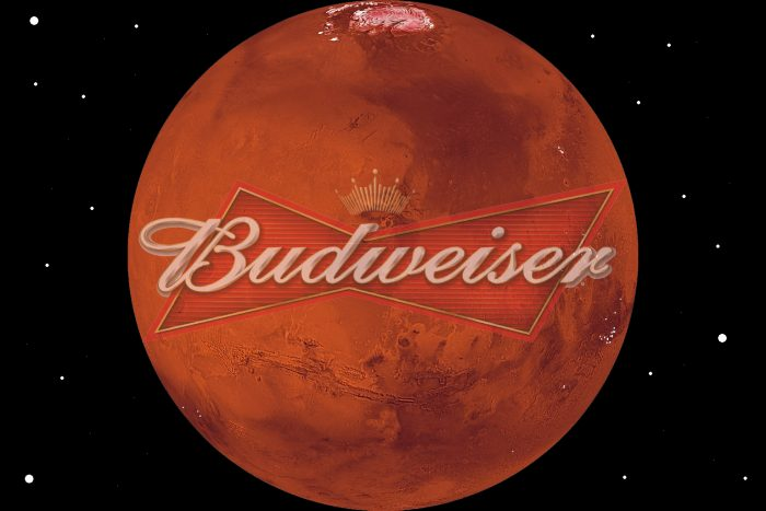 Budweiser beer on mars thirsty thursday