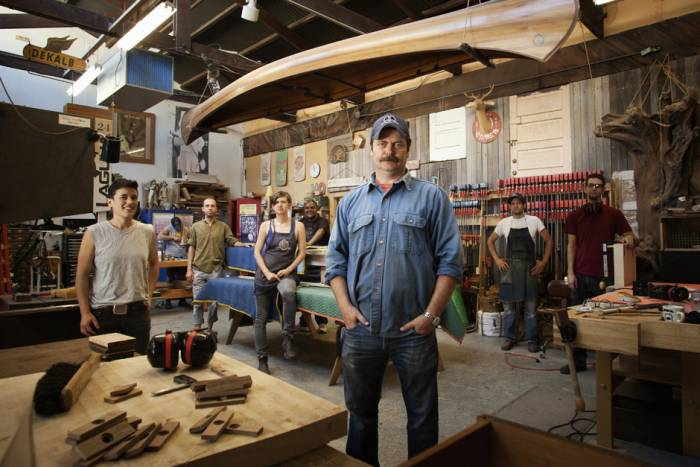 Nick offerman ron swanson woodshop