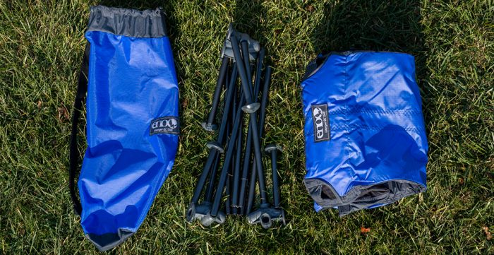 "At 4.6 lbs, the Lounger DL is perfect for trips to the beach, local  concerts, or weekend camping. It packs down to 6"" by 18"" in the included  stuff sack, ... - Gear Junkies – ENO Lounger DL: Hammock Comfort In A Camp Chair"