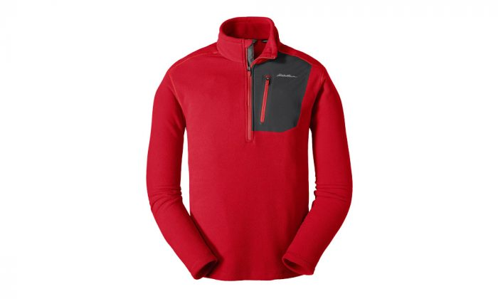 Eddie Bauer Cloud Layer Pro Fleece Pullover Red