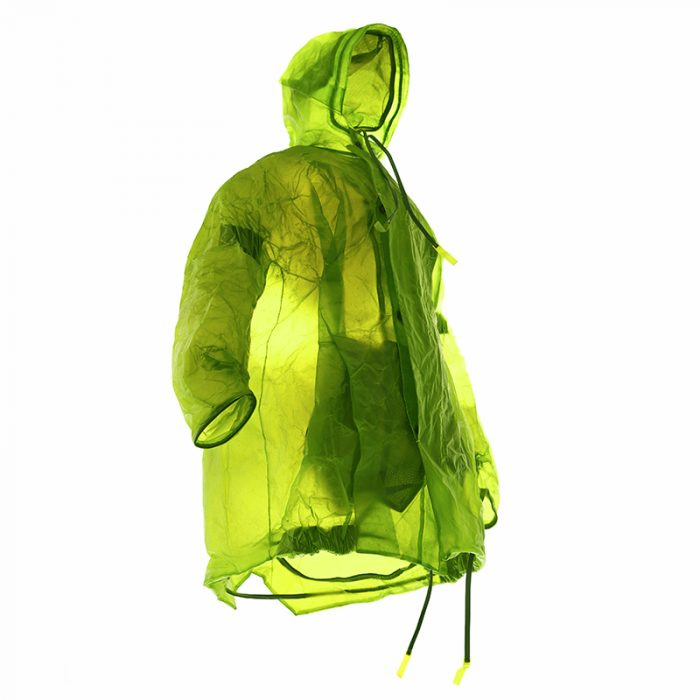 apparition transluscnet leather coat