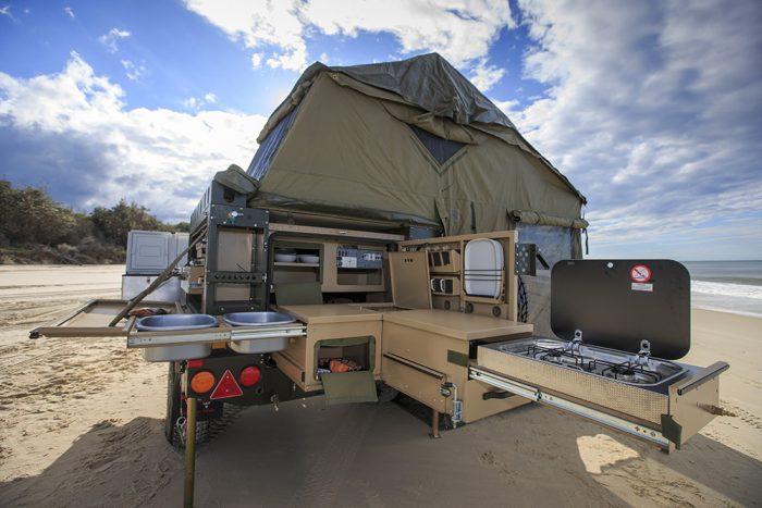 conqueror 490 extreme trailer kitchen outside