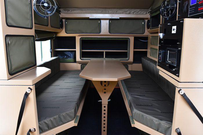 conqueror 490 off-road trailer interior