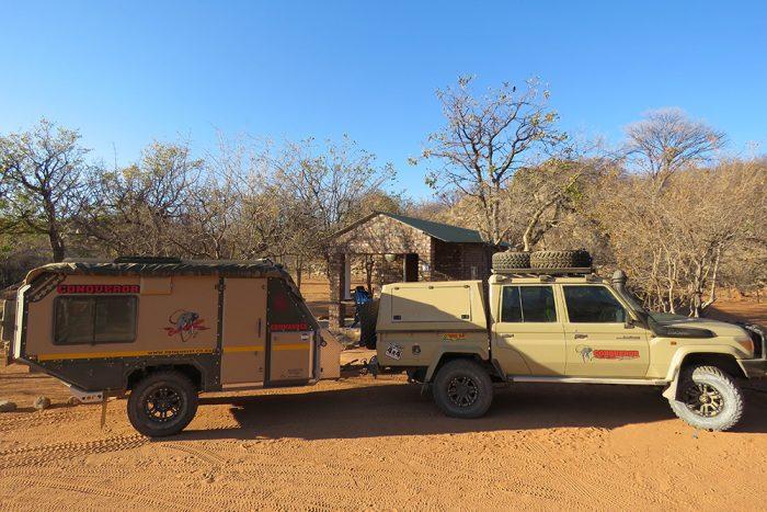 conqueror off-road trailer parked