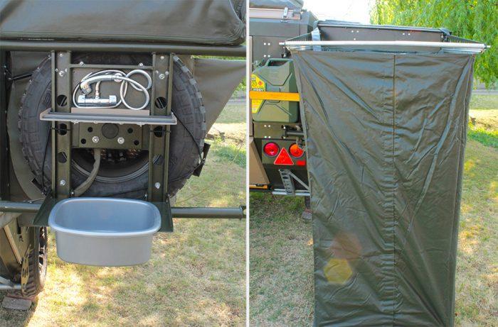 conqueror off-road trailer shower
