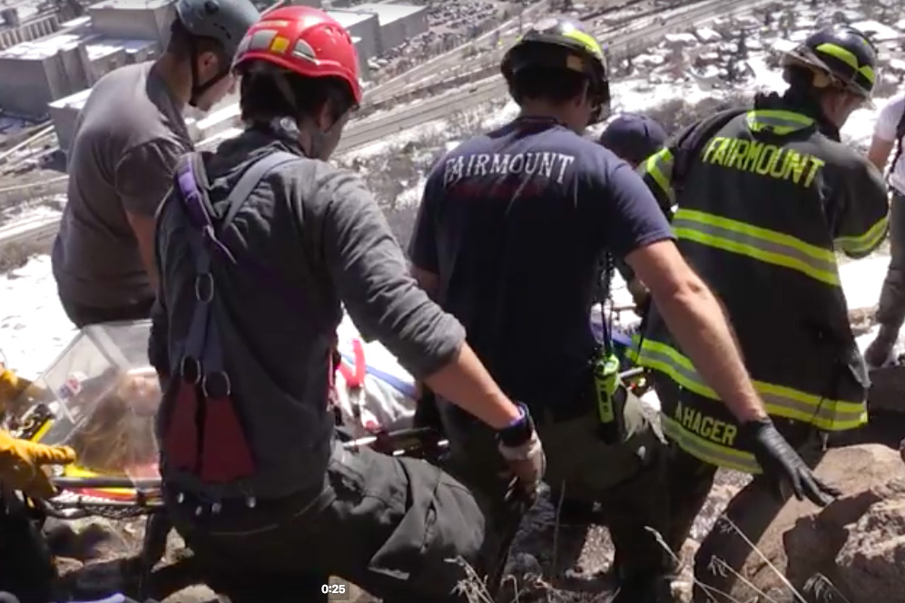 hiker rescue golden colorado boulder fall