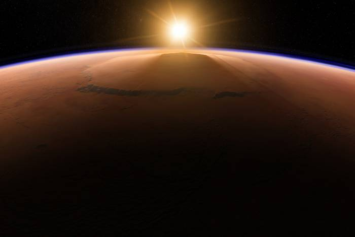 Olympus Mons is the solar system's tallest planetary mountain