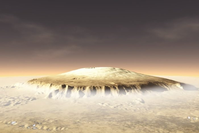 olympus mons from surface
