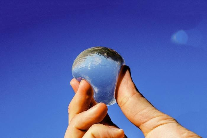 ooho edible water bottle