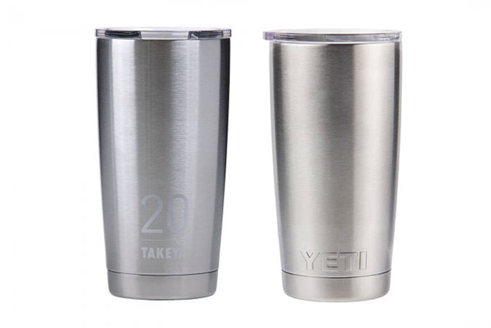 takeya-yeti 20 oz tumbler side by side