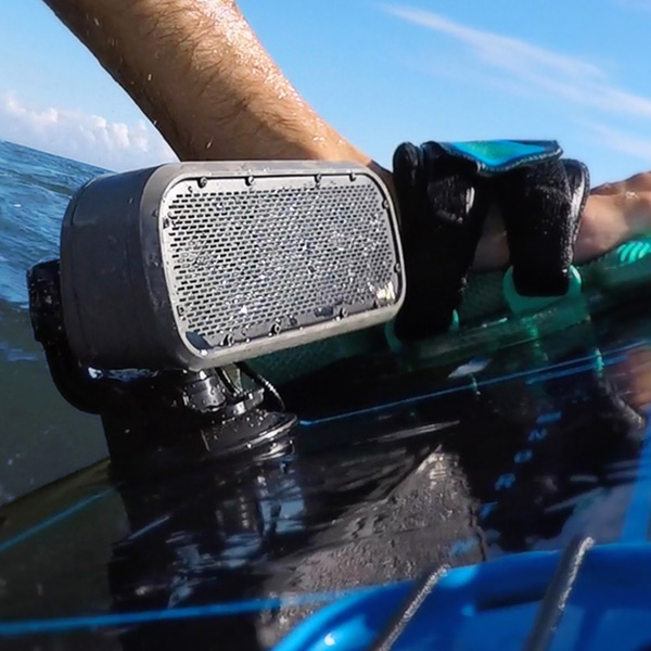 wave speaker on surfboard