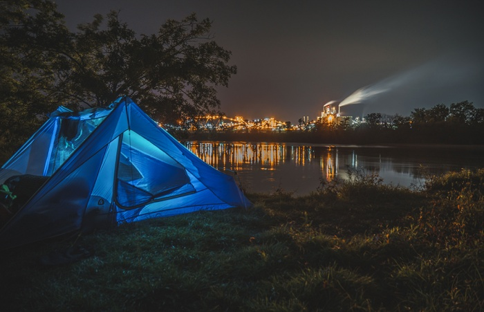 A different kind of scenic view: Camping on the outskirts of civilization