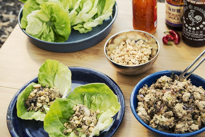 Lettuce Cups with Sesame-Soy Chicken recipe
