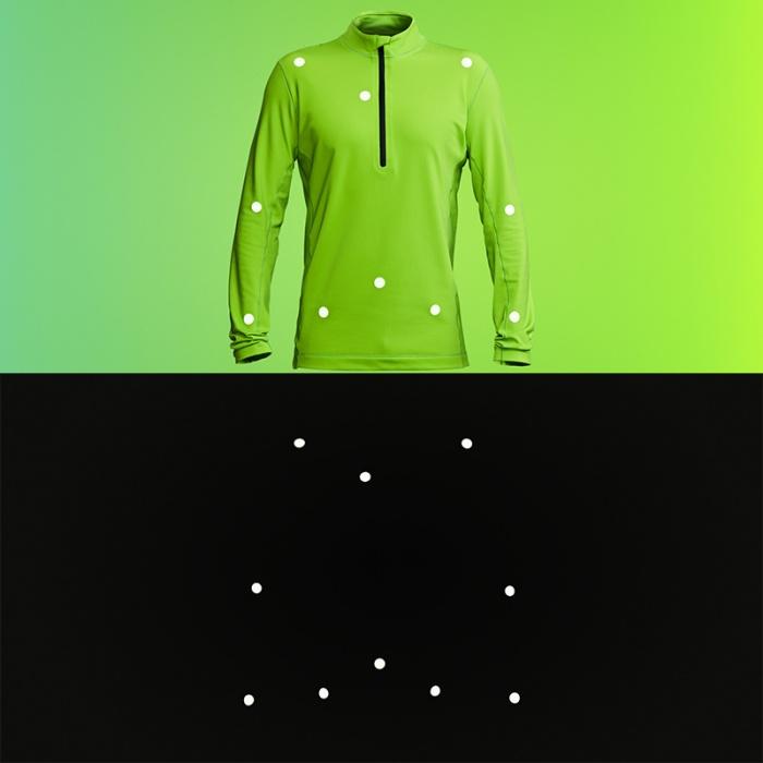 vollebak motion capture reflective midlayer