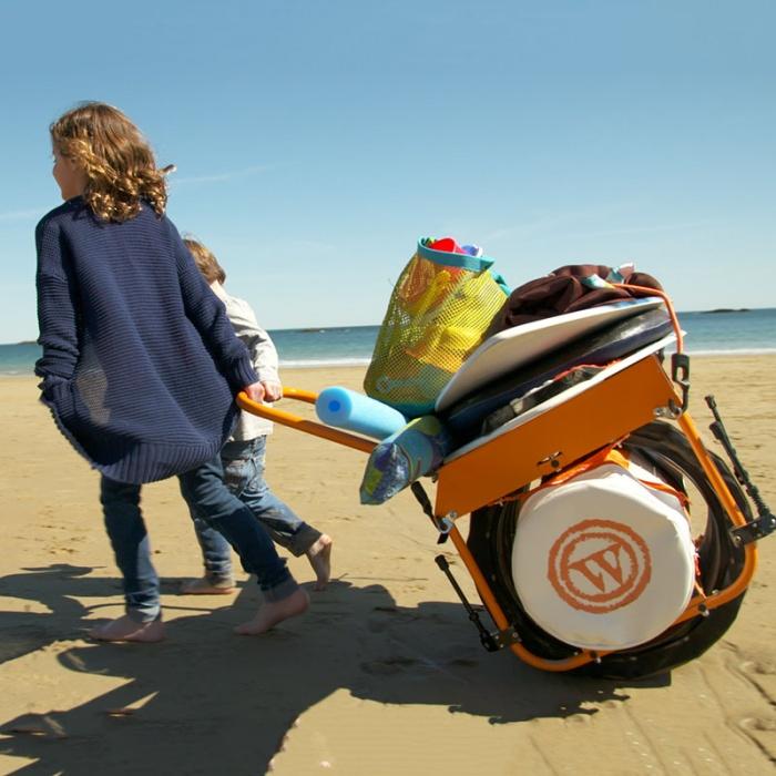 all-terrain monowheel cart