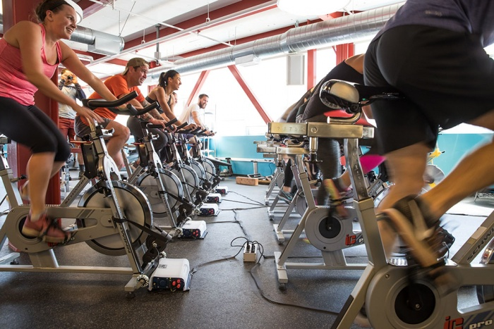 clif bar spin classes bike generators power building